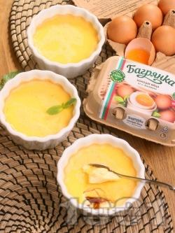 Крем карамел с лимонов сок за десерт (ВИДЕО) - лесна и вкусна домашна рецепта с яйца Багрянка - снимка на рецептата